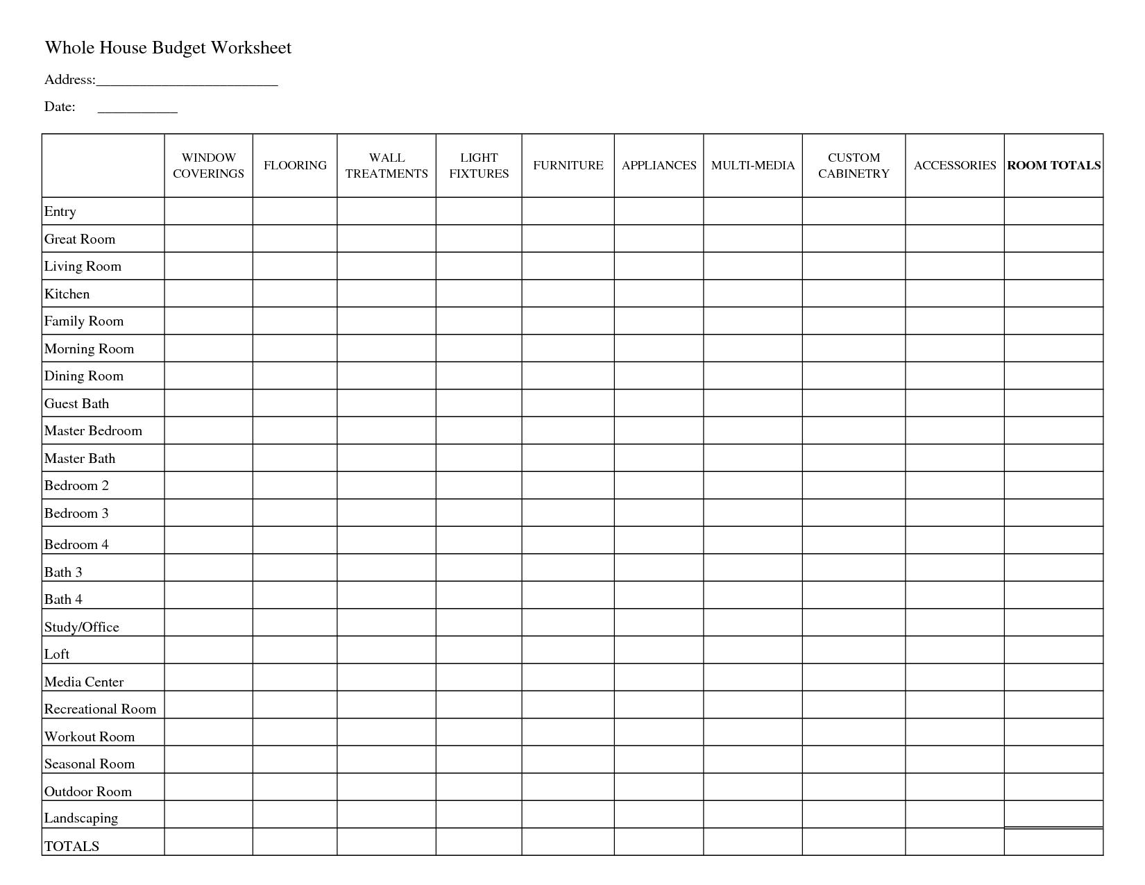 Free Household Budget Template Brochure Templates Australia Home - Household Budget Template Free Printable