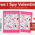 Free I Spy Valentines Printable Game   Teepee Girl   Free Printable Doctor Who Valentines