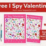 Free I Spy Valentines Printable Game   Teepee Girl   Free Printable Valentine Game