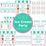 Free Ice Cream Party Printables From Printabelle Perfect For   Free Birthday Printables