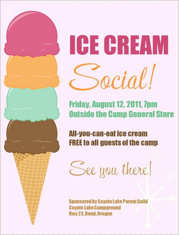 Free Ice Cream Social Template Elegant 16 Ice Cream Flyer Templates - Ice Cream Cone Template Free Printable