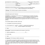 Free Independent Contractor Agreement Template   Pdf | Word | Eforms   Free Printable Independent Contractor Agreement