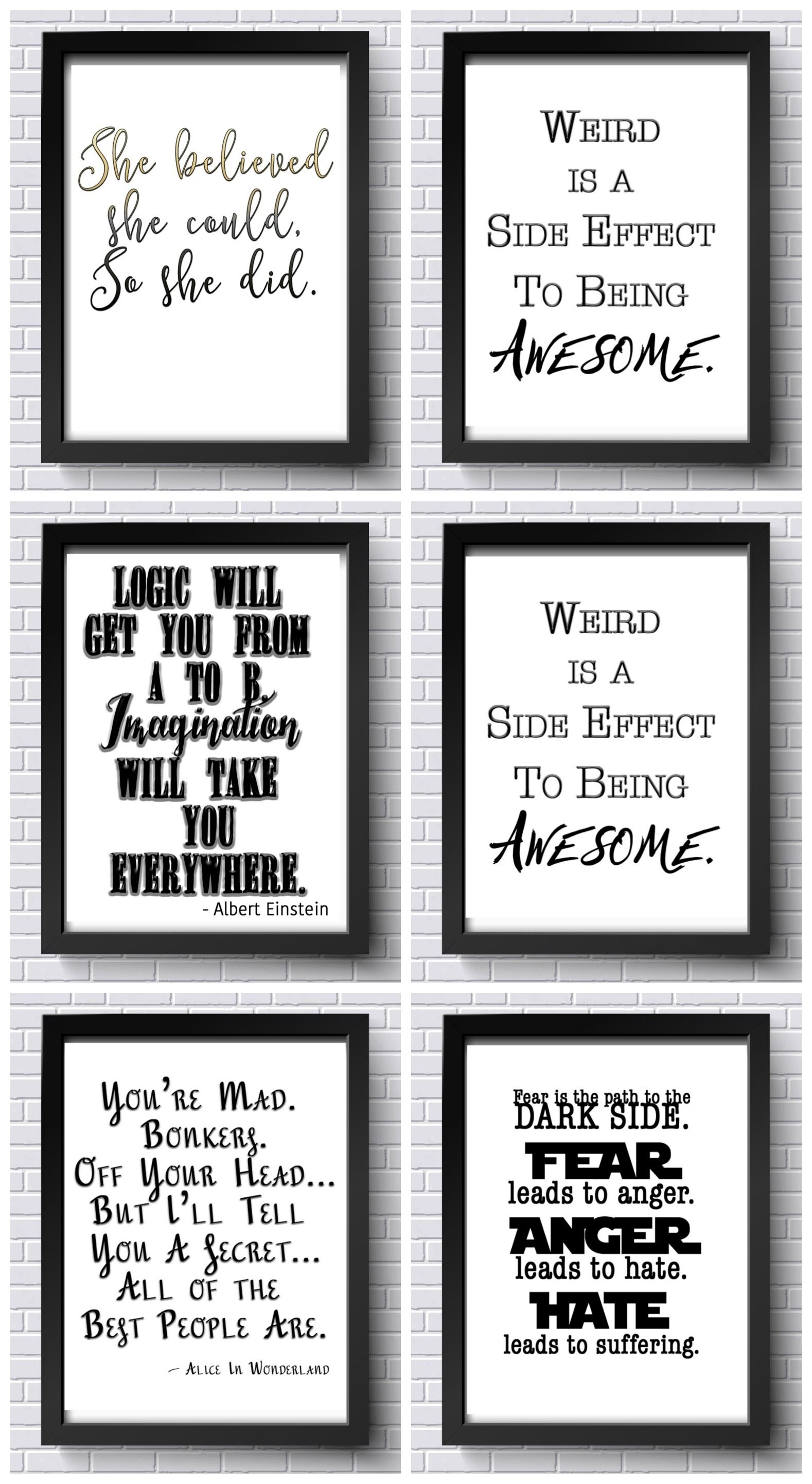 Free Inspirational Printables! Free Office Printables! | Quotes - Free Printable Quotes For Office