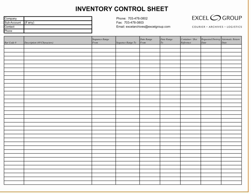 Free Inventory Spreadsheet – Ptcharacterprofiles.website - Free Printable Inventory Sheets
