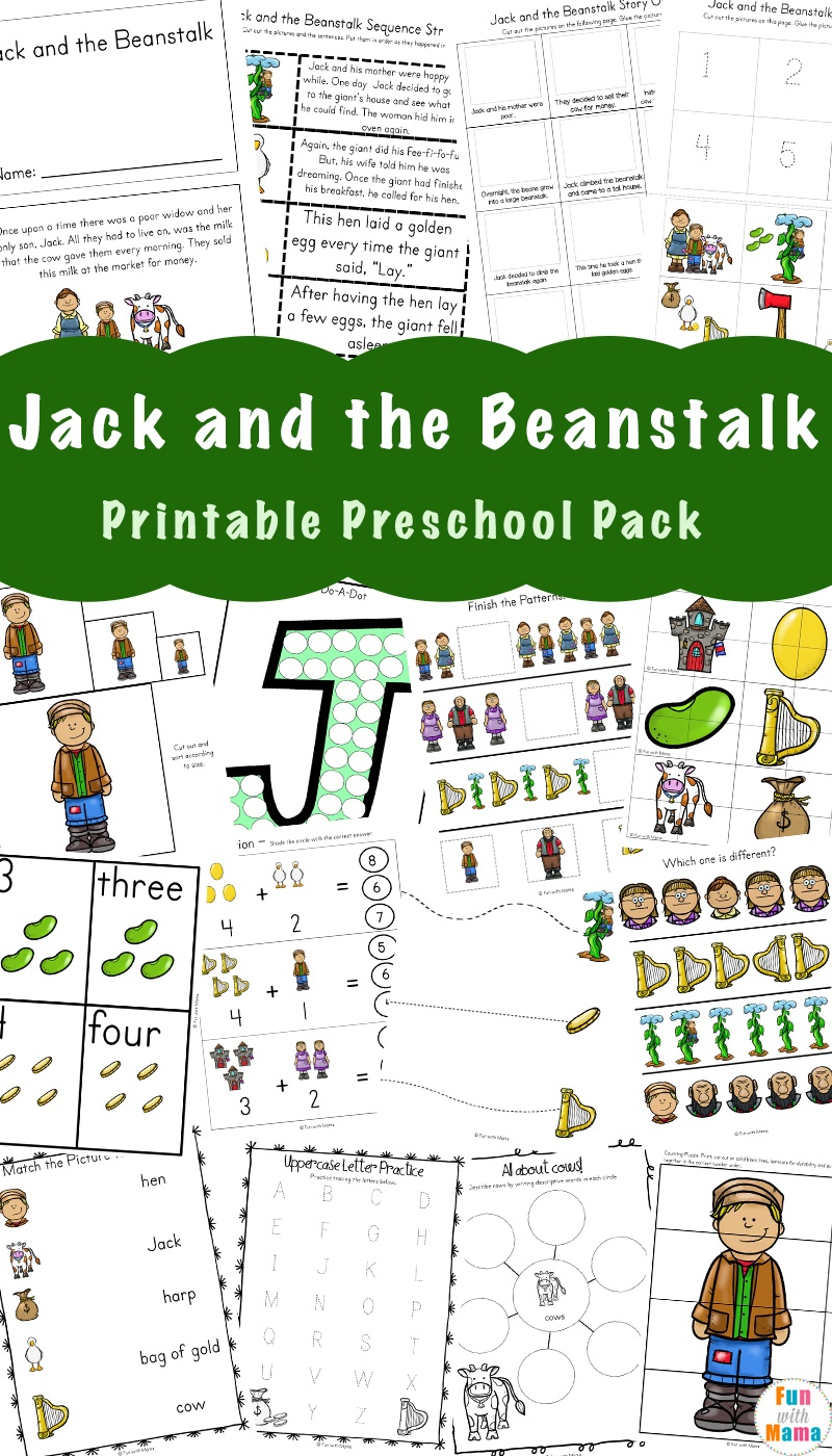 Free Jack And The Beanstalk Activities - Fun With Mama - Jack And The Beanstalk Free Printable Activities