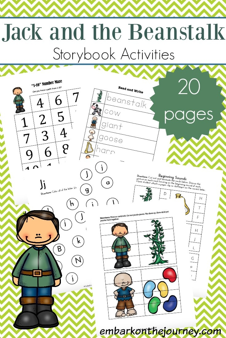 Free Jack And The Beanstalk Printables And Activities - Jack And The Beanstalk Free Printable Activities