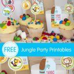 Free Jungle Party Invitation Printables   Jungle Theme Birthday Invitations Free Printable