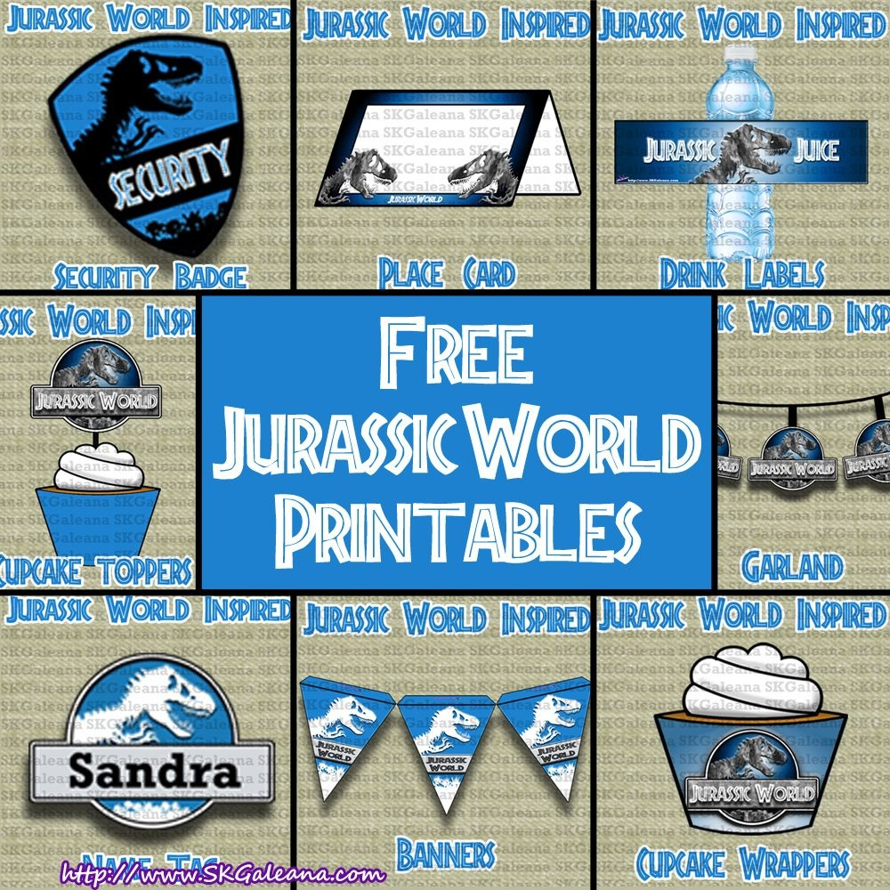 Free Jurassic World Printables, Activities And Crafts!   Kareem - Jurassic World Free Printables
