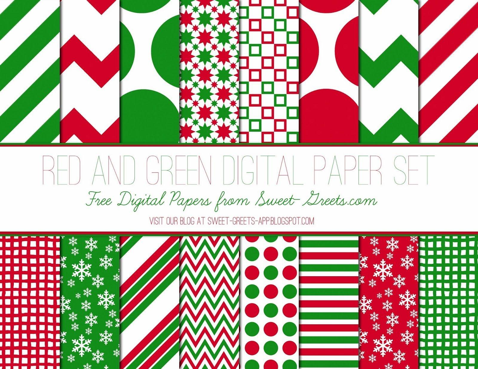 Free Just Peachy Designs: Free Christmas Digital Paper | Printable - Free Printable Scrapbook Paper Christmas