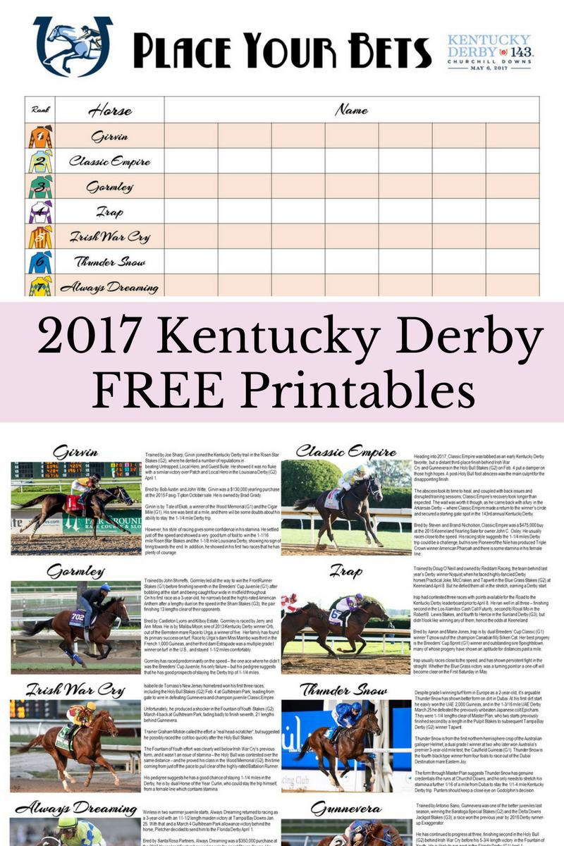 Free Kentucky Derby Printables | Kentucky Derby Party | Kentucky - Free Kentucky Derby Printables