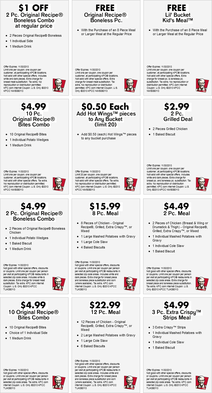 Free-Kfc-Coupons-Codes-July-5 - Free Printable Coupons 2017