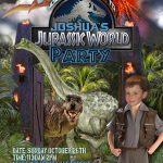 Free Kids Party Invitations   Free Printable Jurassic World Invitations