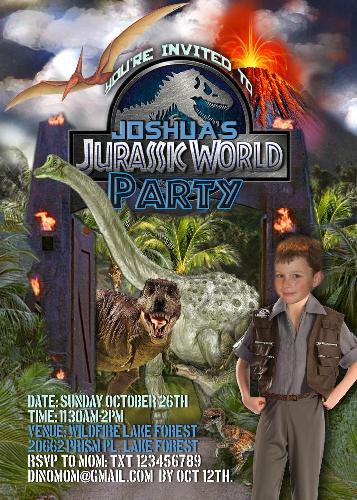 Free Kids Party Invitations - Free Printable Jurassic World Invitations
