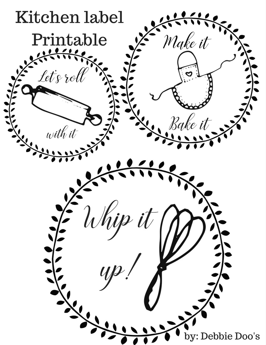 Free Kitchen Printable Labels For Canisters Or More - Debbiedoos - Free Printable From The Kitchen Of Labels