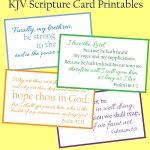 Free Kjv Scripture Card Printables | Vision Board | Scripture Cards   Free Printable Kjv Bible Study Lessons