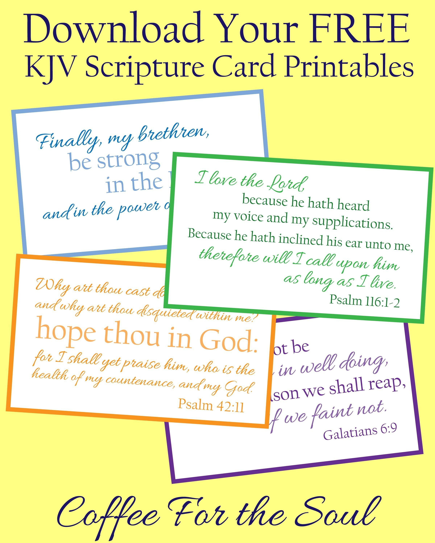 Free Kjv Scripture Card Printables | Vision Board | Scripture Cards - Free Printable Kjv Bible Study Lessons