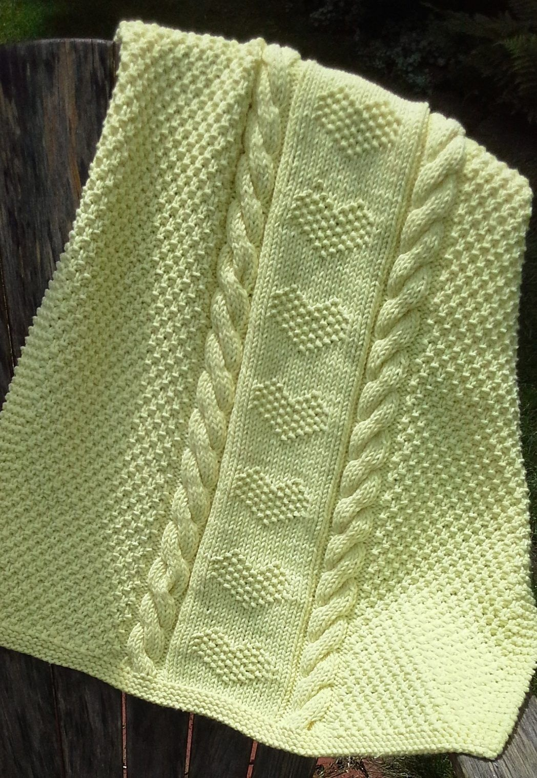 Free Knitting Pattern For Love Is A Blanket - Marji Lafreniere's - Free Printable Knitting Patterns For Baby Blankets