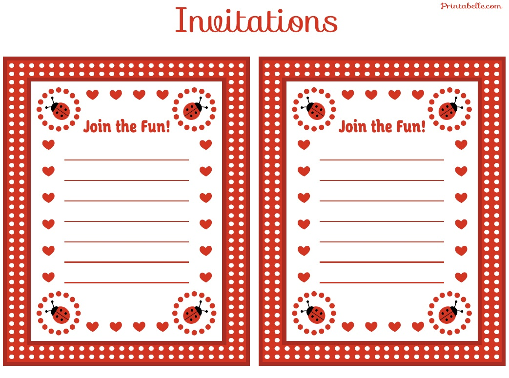 Free Ladybug Party Printables From Printabelle | Catch My Party - Ladybug Themed Birthday Party With Free Printables