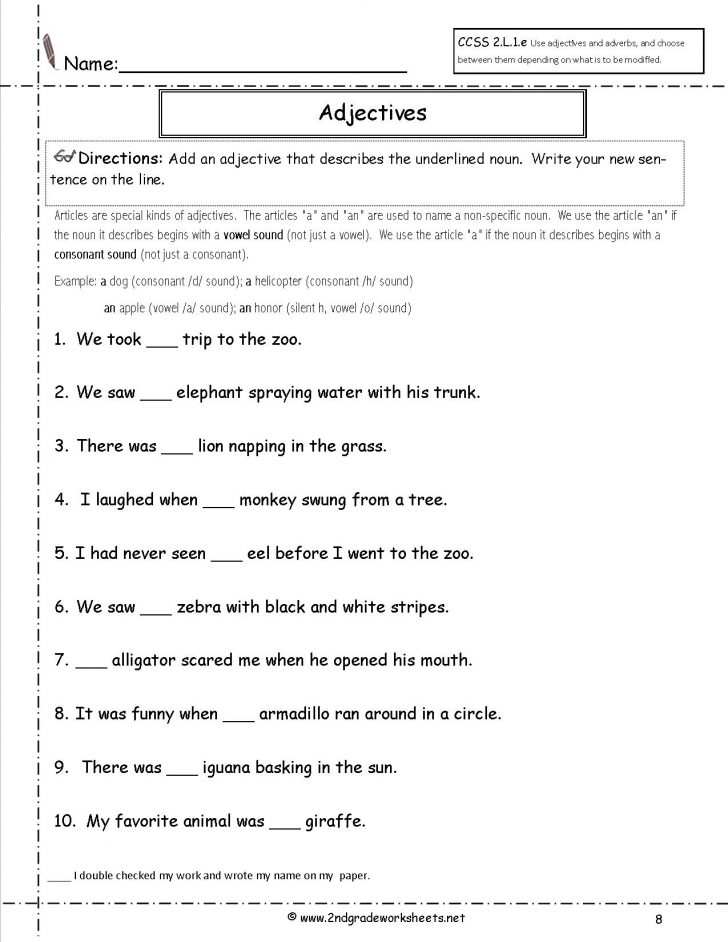 Free Printable Ela Worksheets