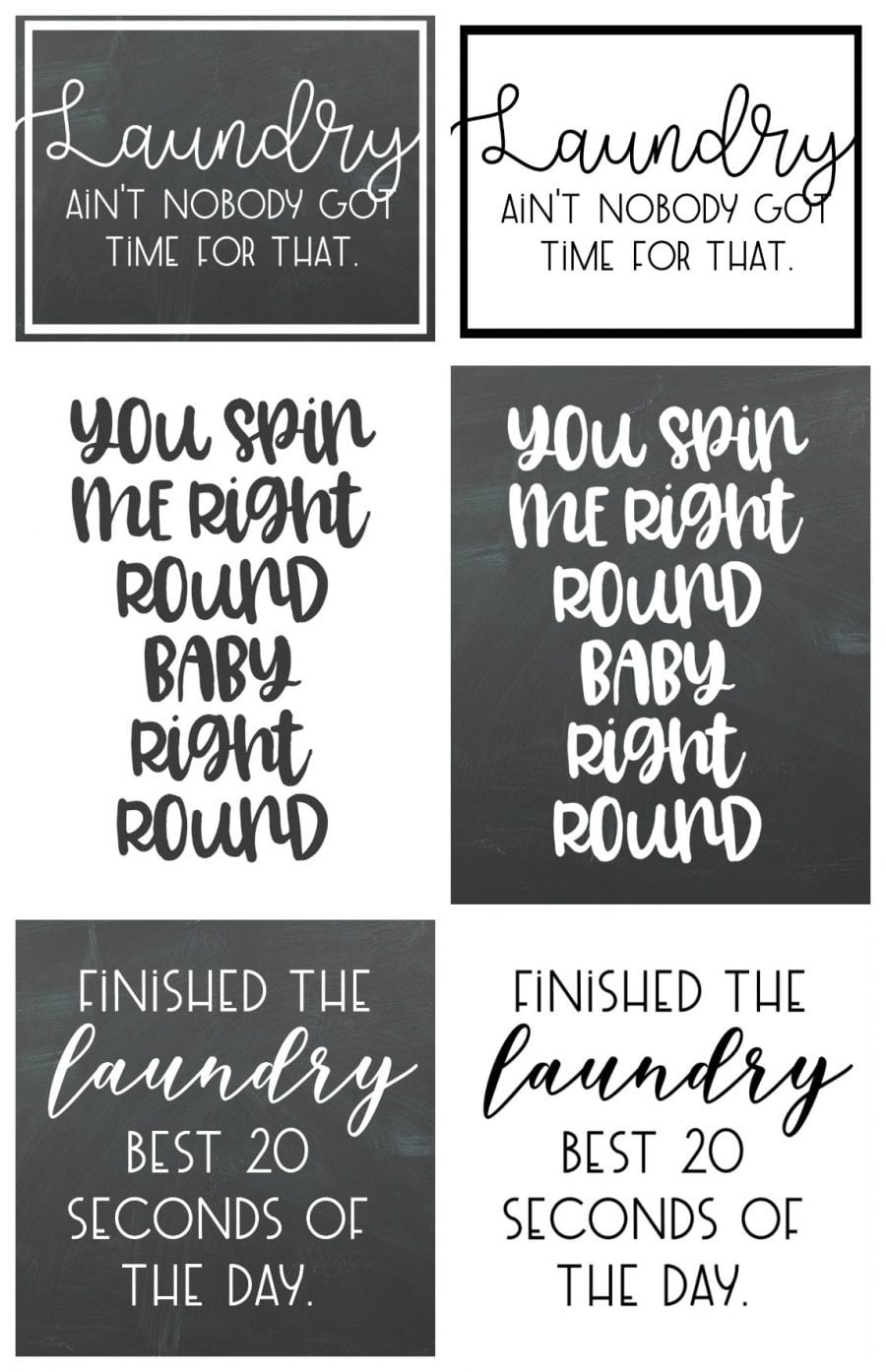 Free Laundry Room Printables! - A Girl And A Glue Gun - Free Laundry Room Printables