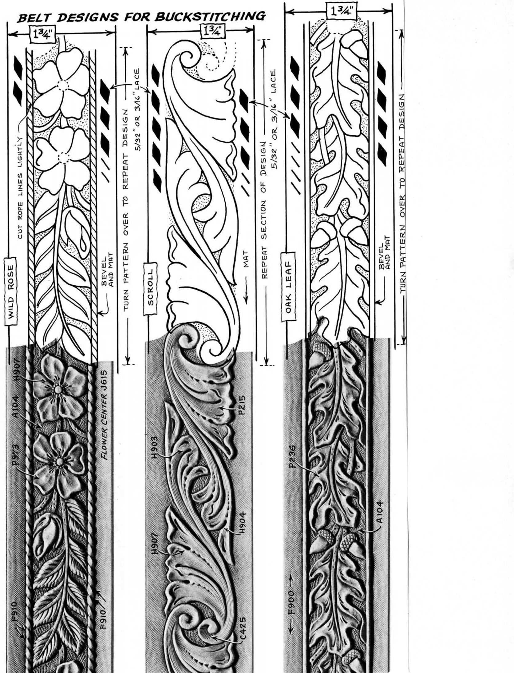 Free Leather Tooling Patterns - Yahoo Image Search Results - Free Printable Leather Belt Tooling Patterns