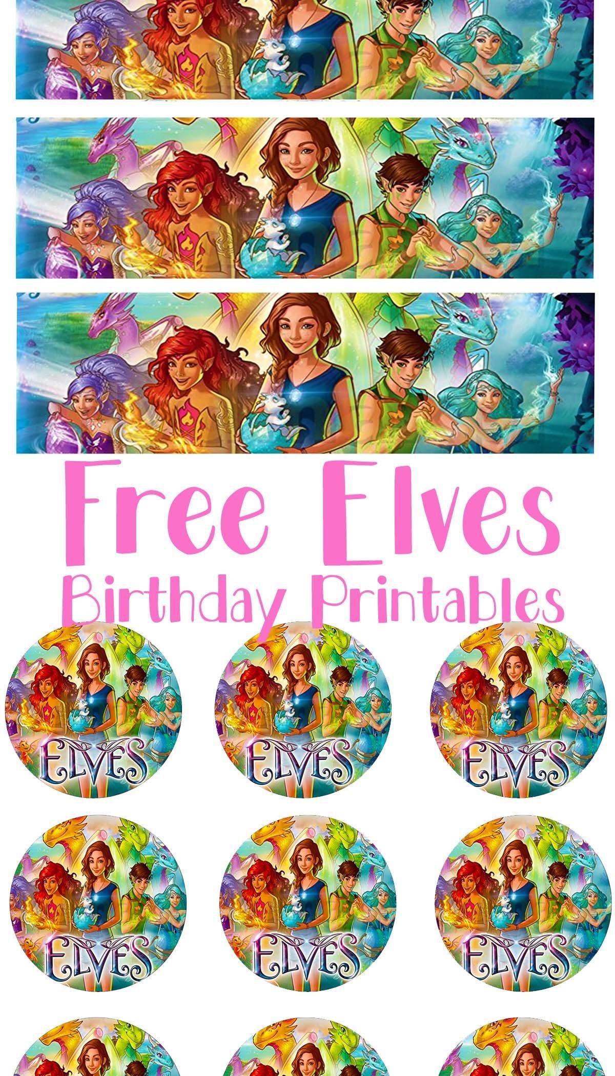 Free Lego Elves Birthday Party Printable Files | Cupcake Topper - Free Lego Water Bottle Printables