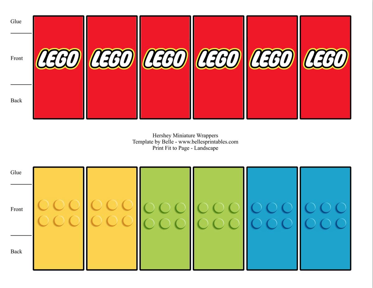 Free Lego Mini Candy Bar Wrapper Printable … | Lego Party In 2019… - Free Printable Mini Candy Wrapper Template