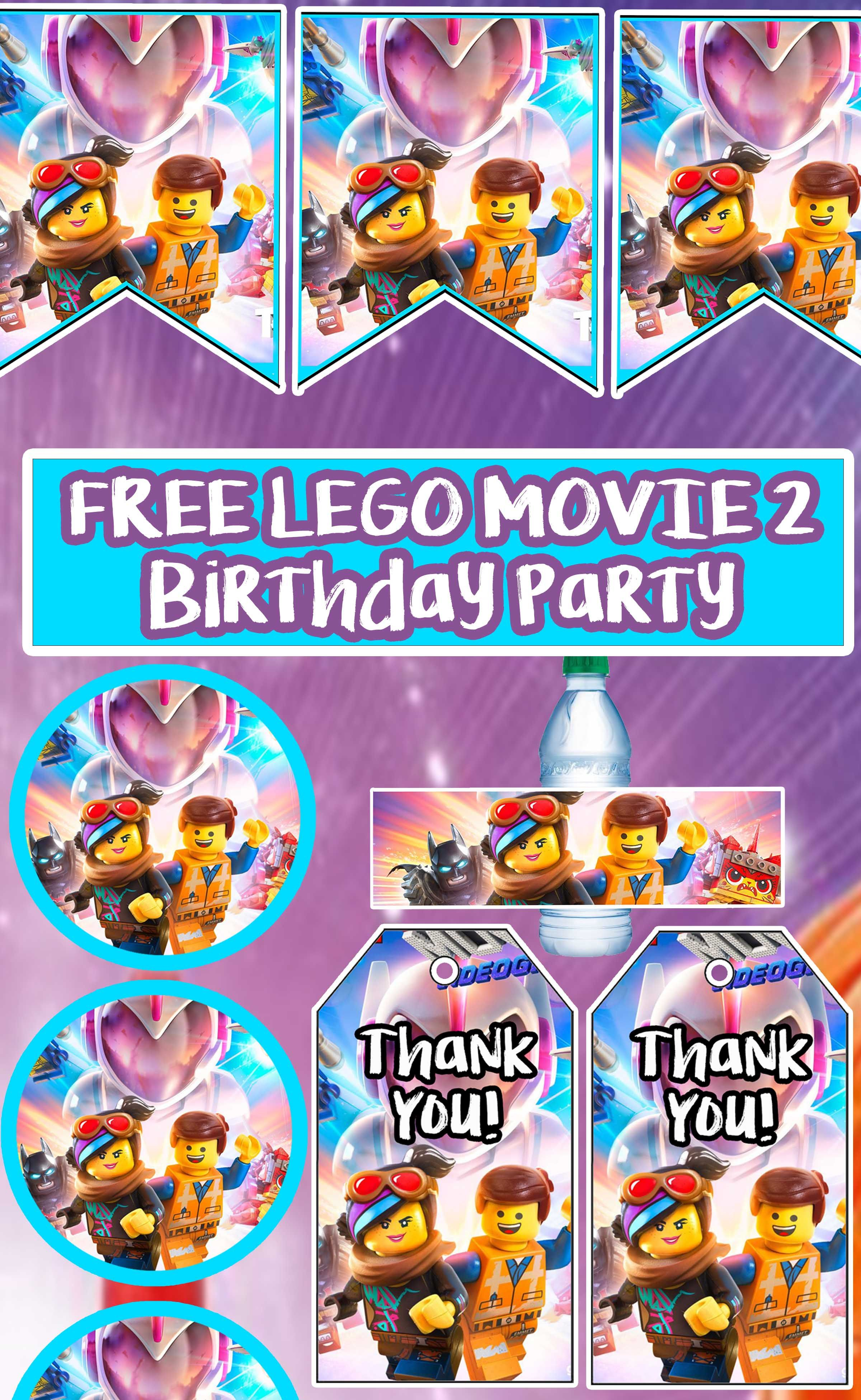 Free Lego Movie 2: The Second Part Birthday Party Printable Files - Free Lego Water Bottle Printables