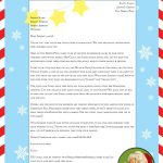 """Free """"Letter From Santa"""" Template For You To Download And Edit   Free Printable Santa Reply Letter Template"""