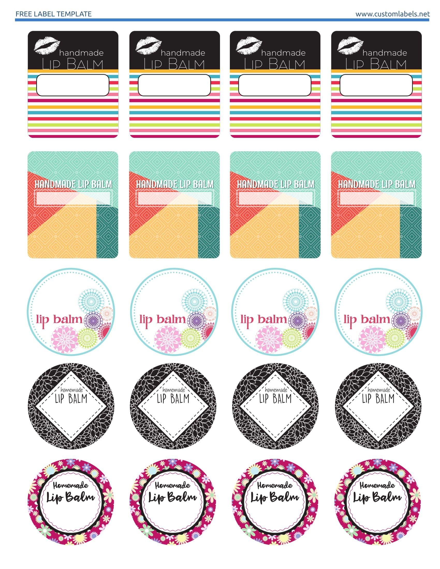 Free Lip Balm Label Printables. Editable Template Available On The - Free Printable Lip Balm Label Template