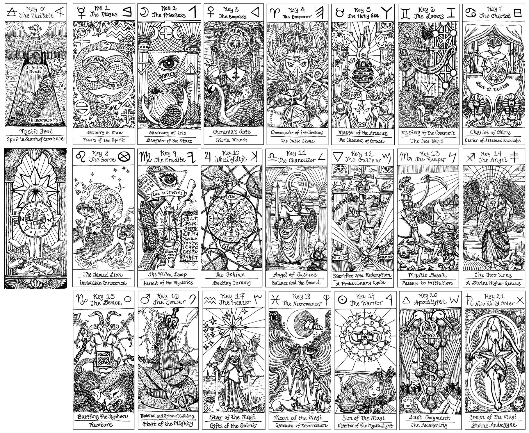 Free Major Arcana Download   Benebell Wen - Free Printable Tarot Cards