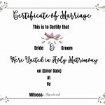 Free Marriage Certificate Template | Customize Online Then Print   Fake Marriage Certificate Printable Free