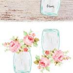 Free Mason Jar Floral Tags  Pretty   Cricut Templates   Contenus   Free Printable Floral Labels