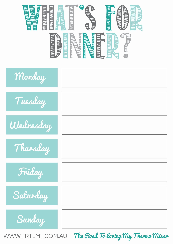 Free Meal Planning Printables … | Planning Life | Meal … - Free Printable Menu