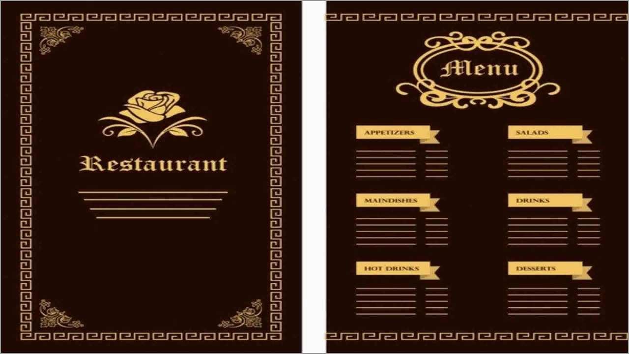 Free Menu Maker Template Best Of Design & Templates Menu Templates - Design A Menu For Free Printable