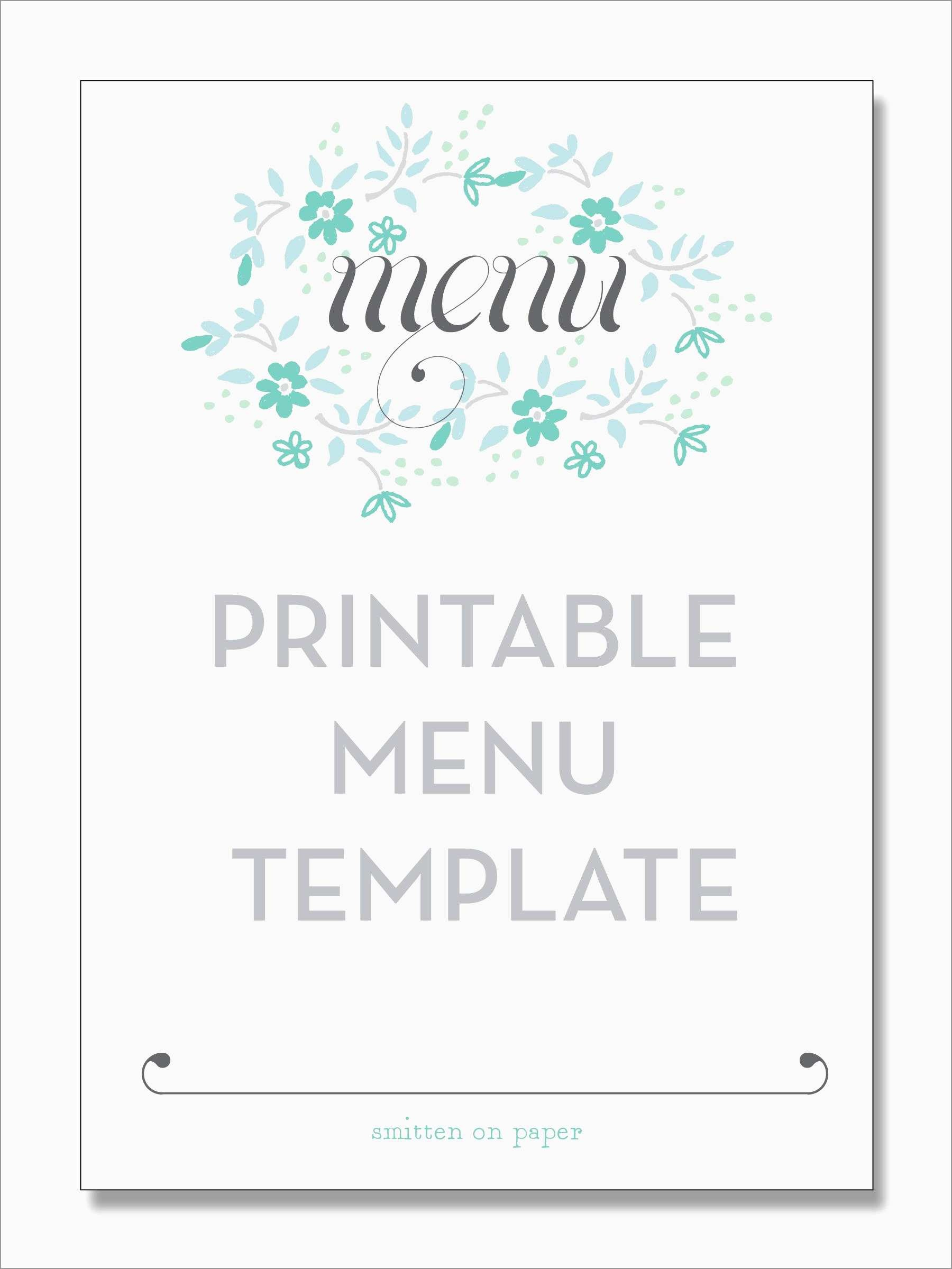 Free Menu Maker Template Pretty Restaurant Menu | Best Of Template - Free Printable Menu Maker