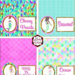 Free Mermaid Birthday Party Printables | Awesome Party Printables   Free Mermaid Party Printables