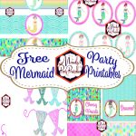 Free Mermaid Birthday Party Printables | Elle's Beach Party | Diy   Free Mermaid Party Printables