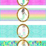 Free Mermaid Birthday Party Printables | Free Girls Party Printables   Free Printable Little Mermaid Water Bottle Labels