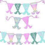 Free Mermaid Birthday Party Printables | Free Girls Party Printables   Free Printable Mermaid Thank You Cards