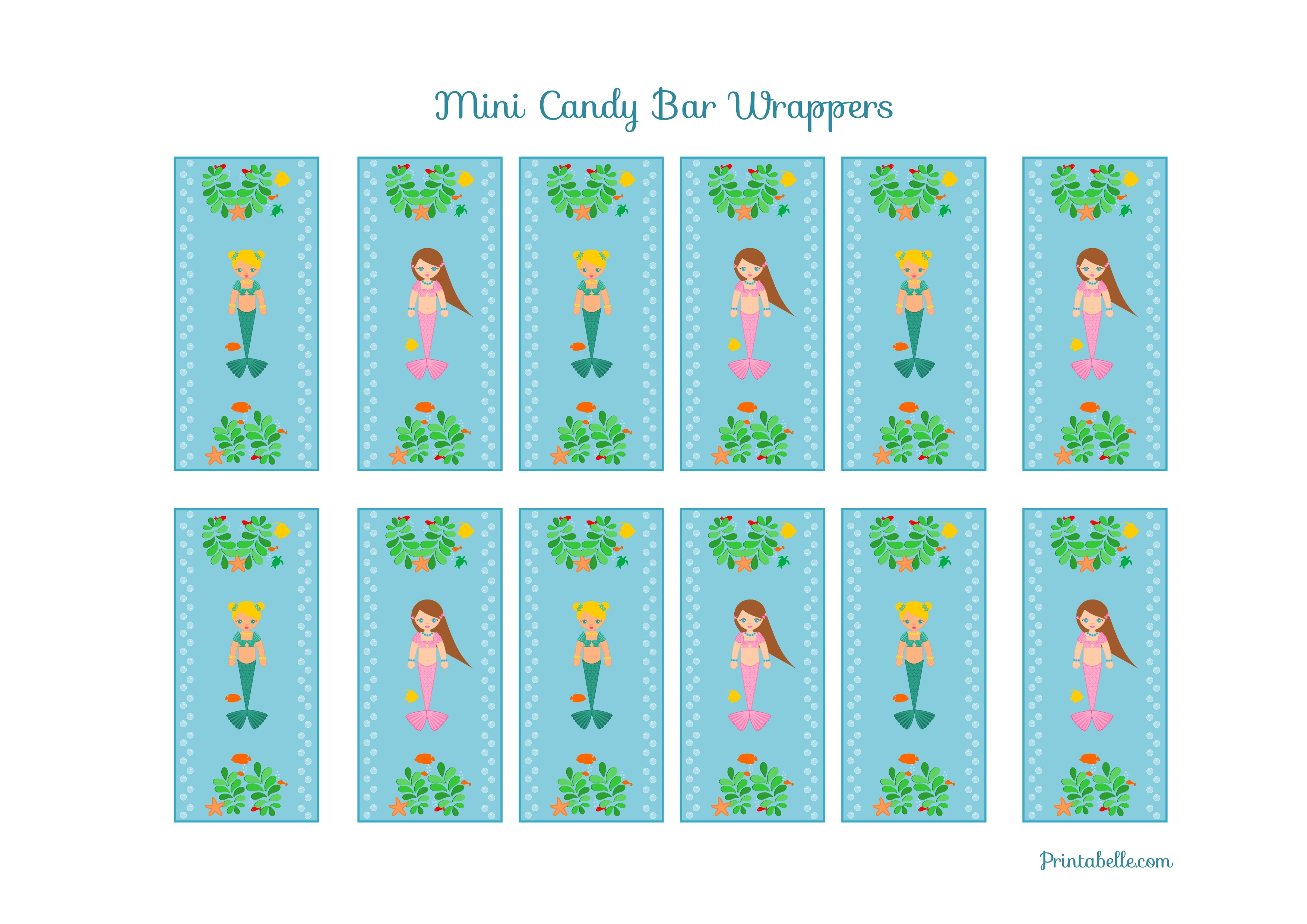 Free Mermaid Birthday Party Printables From Printabelle | Catch My Party - Free Mermaid Printables