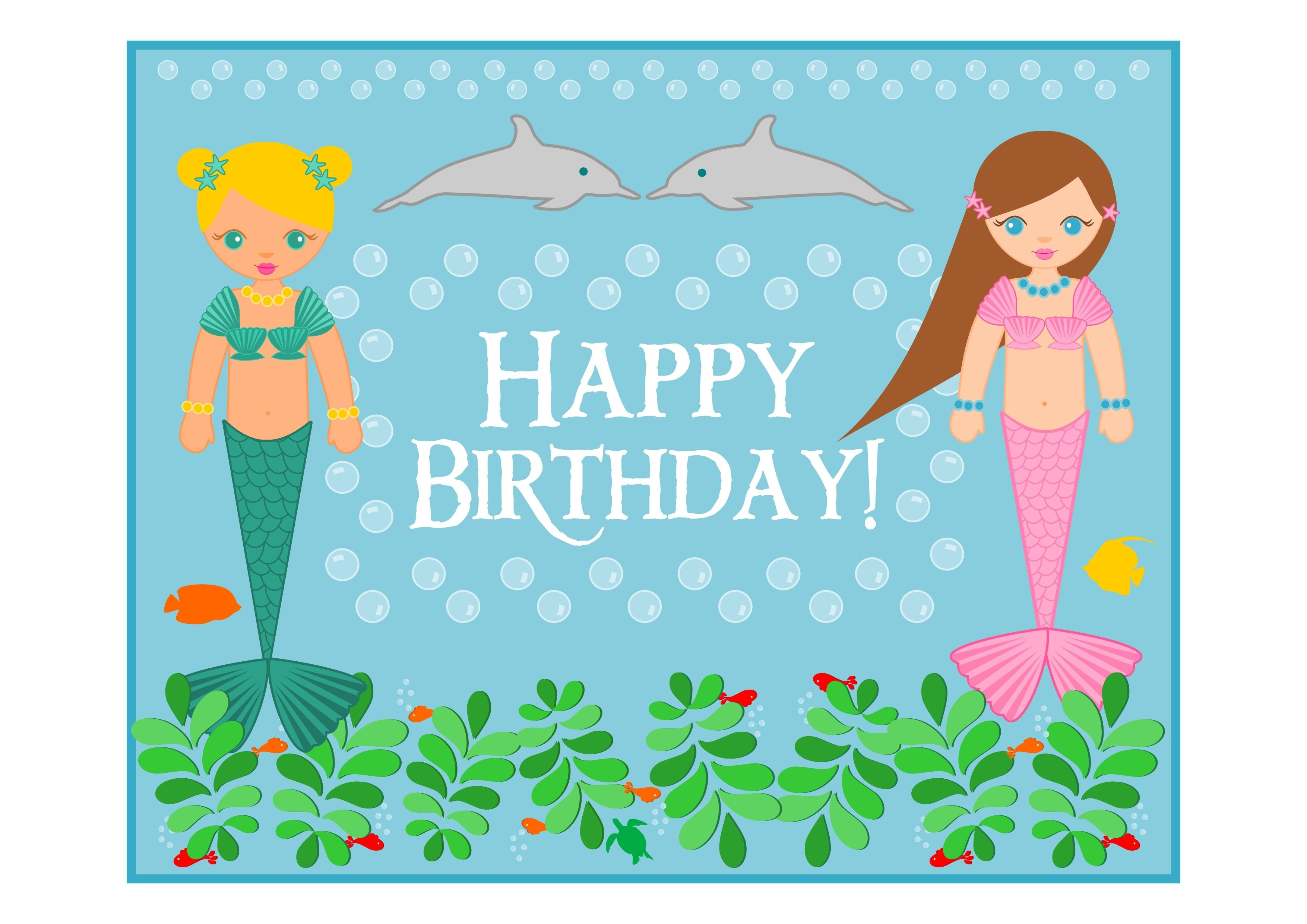 Free Mermaid Birthday Party Printables From Printabelle | Mermaid - Free Mermaid Printables