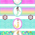 Free Mermaid Birthday Party Printables | Party Printables | Mermaid   Free Printable Little Mermaid Water Bottle Labels