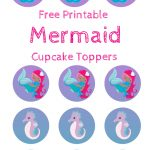 Free Mermaid Cupcake Toppers, Print Out And Pimp Your Cupcakes   Free Printable Barbie Cupcake Toppers