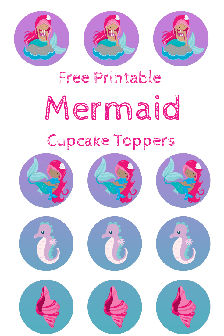 Free Mermaid Cupcake Toppers, Print Out And Pimp Your Cupcakes - Free Printable Barbie Cupcake Toppers