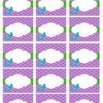 Free Mermaid Party Printables | Bella's | Mermaid Party Food   Free Printable Little Mermaid Water Bottle Labels