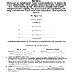 Free Michigan Residential Lease Agreement Template   Pdf | Word   Free Printable Michigan Residential Lease Agreement