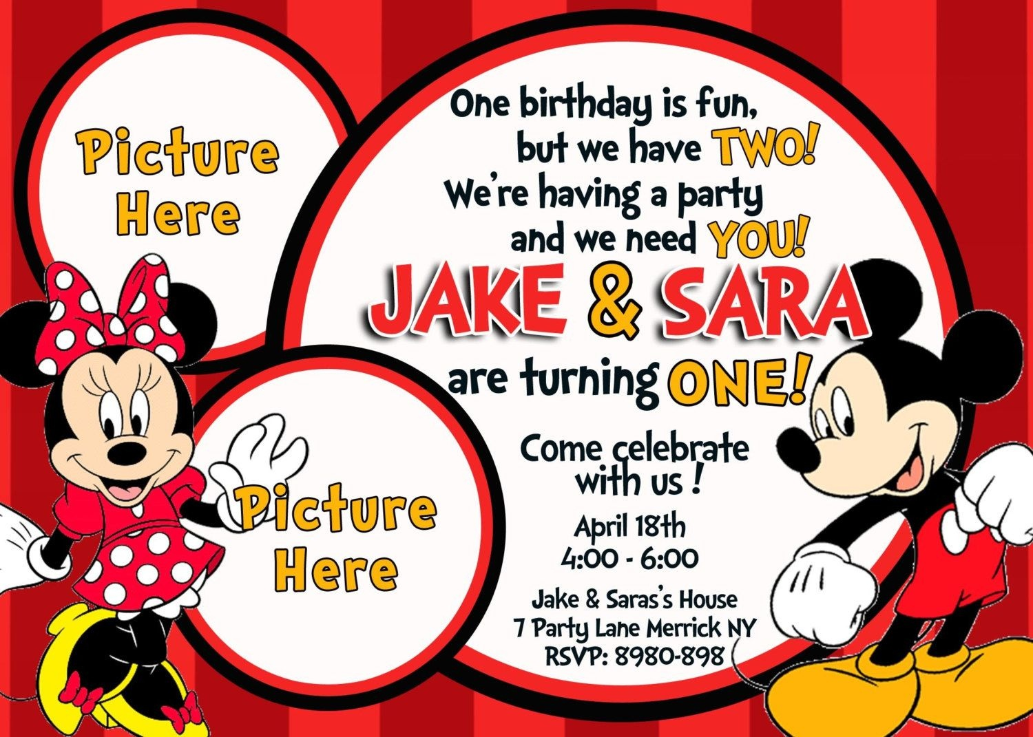Free Mickey And Minnie Mouse Birthday Invitations | Bagvania - Free Printable Mickey And Minnie Mouse Invitations