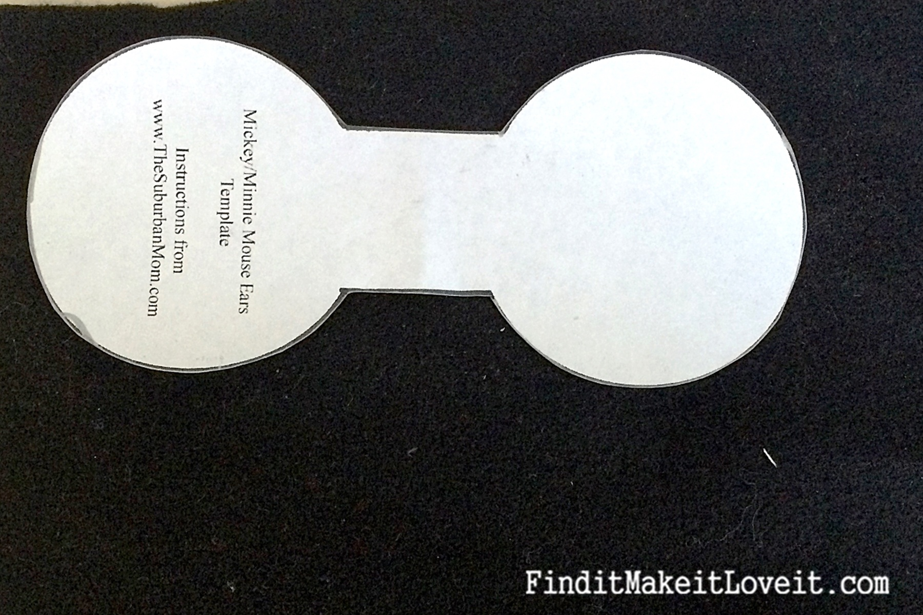 Free Mickey Mouse Ears Template Headband, Download Free Clip Art - Free Printable Minnie Mouse Ears Template