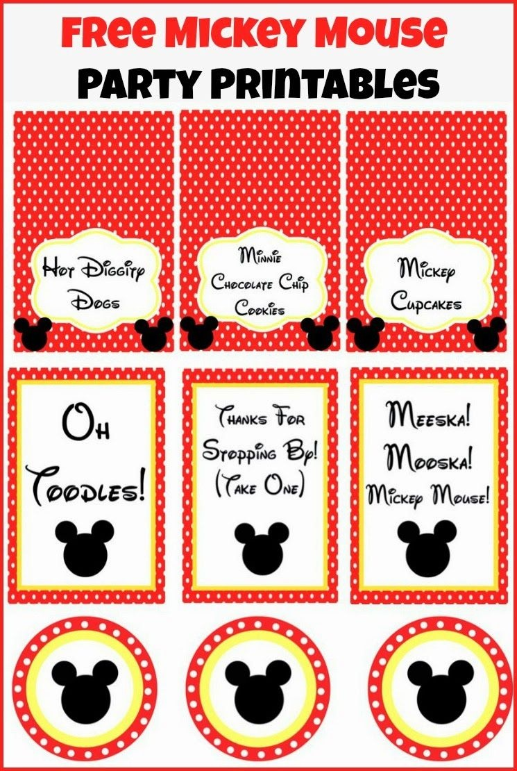 Free Mickey Mouse Party Printables From Playpartypin - Mickey Mouse Clubhouse Free Party Printables